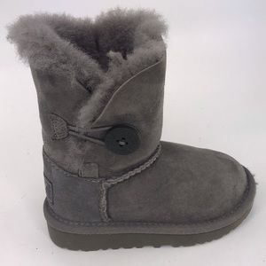 Ugh Grey Bailey Shearling Button Boots 7 Toddler